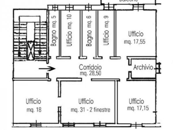 Ufficio in affitto a Firenze, Mazzini, 130 mq - Foto 2
