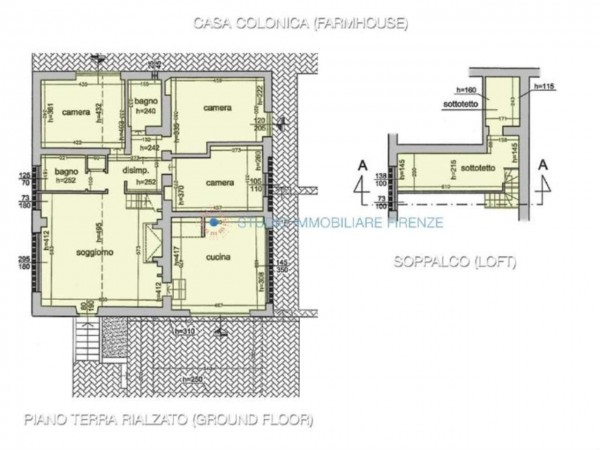 Rustico/Casale in vendita a San Casciano in Val di Pesa, Con giardino, 200 mq - Foto 5