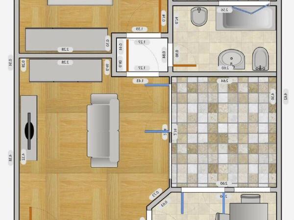 Appartamento in affitto a Milano, Q.re Adriano, 140 mq - Foto 3