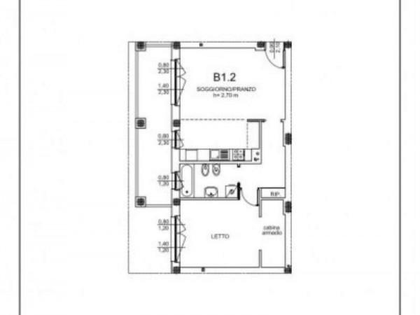 Appartamento in vendita a Milano, Cadore,montenero, Muratori, Libia, Con giardino, 82 mq - Foto 2