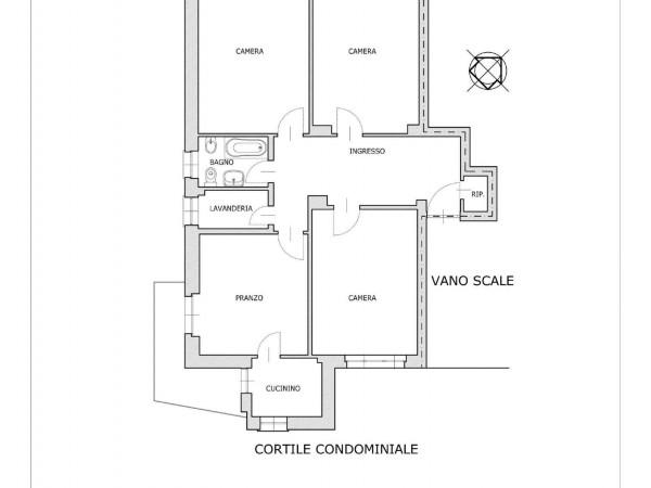Appartamento in vendita a Torino, Crocetta, 115 mq - Foto 4