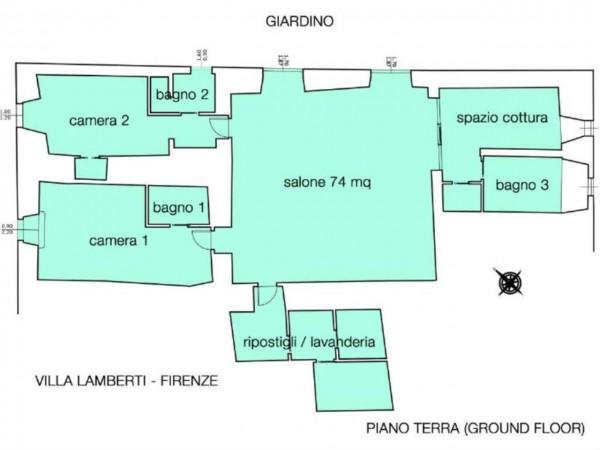 Appartamento in vendita a Firenze, Con giardino, 230 mq - Foto 4