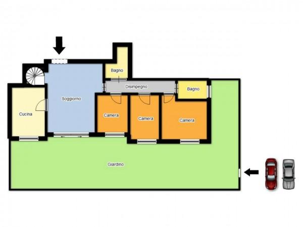Appartamento in vendita a Brescia, Urago, Con giardino, 190 mq - Foto 4