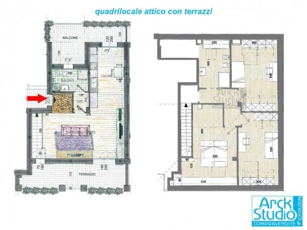 Appartamento in vendita a Inzago, Naviglio, 130 mq - Foto 5