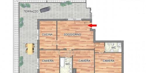 Appartamento in vendita a Cassano d'Adda, Con giardino, 136 mq - Foto 2