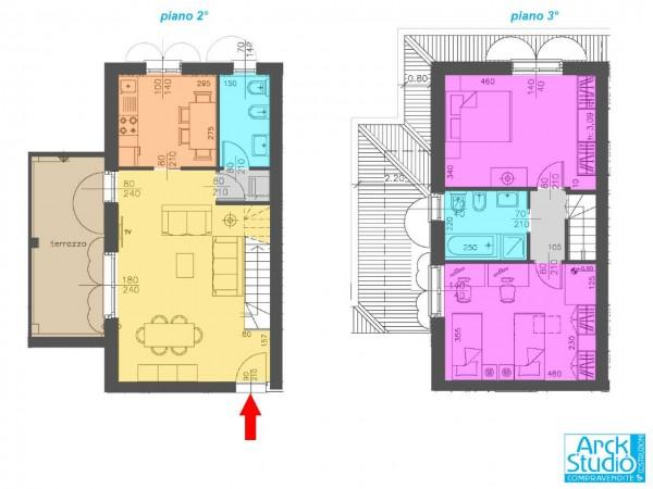 Appartamento in vendita a Cassano d'Adda, 110 mq - Foto 2