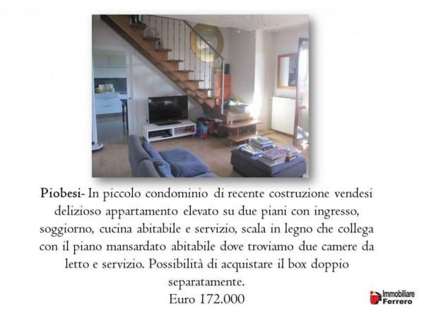 Appartamento in vendita a Piobesi Torinese, Centro, 112 mq - Foto 2