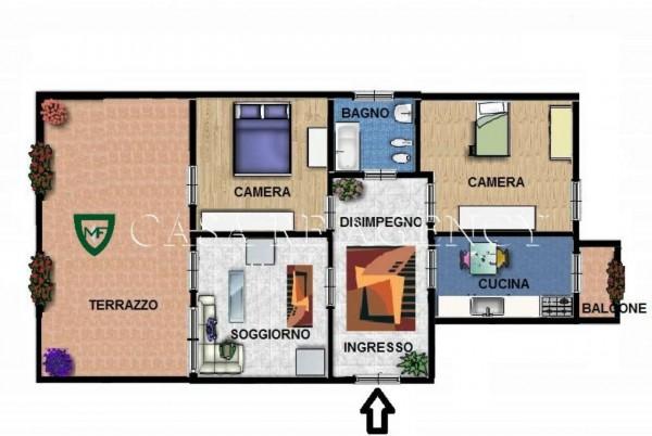 Appartamento in vendita a Varese, Giubiano, Con giardino, 95 mq - Foto 2