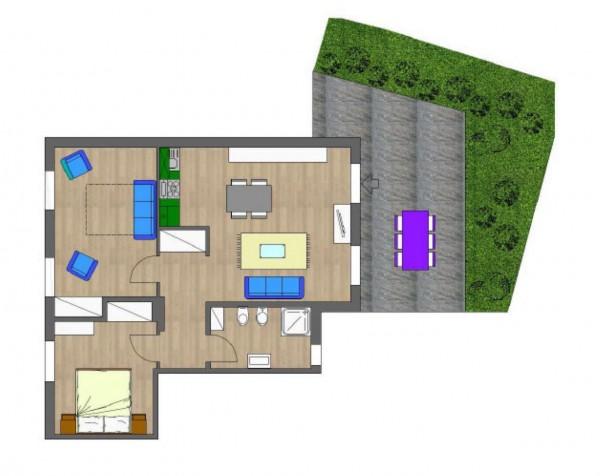 Appartamento in vendita a Faggeto Lario, Faggeto, Arredato, con giardino, 74 mq - Foto 5
