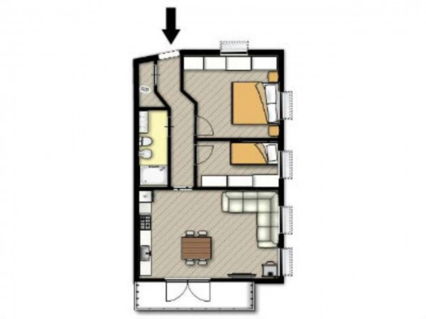 Appartamento in vendita a Ponte di Legno, Centro Del Paese, 60 mq - Foto 2