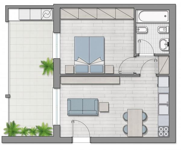 Appartamento in vendita a Roma, Furio Camillo, Appio Latino, Alberone, 37 mq - Foto 7