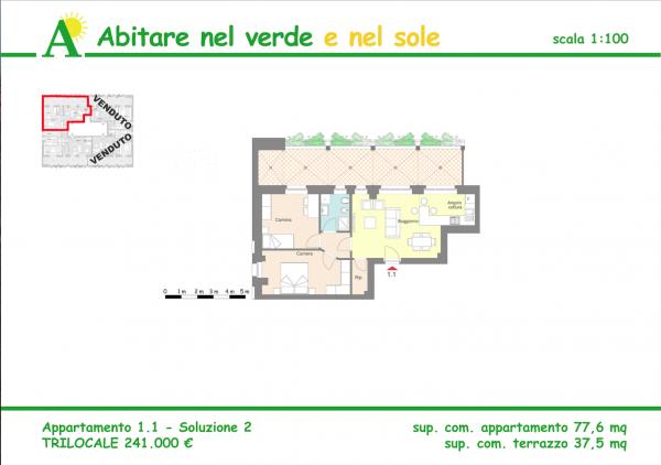 Trilocale in vendita a Agrate Brianza, Via Vismara, 77 mq - Foto 2