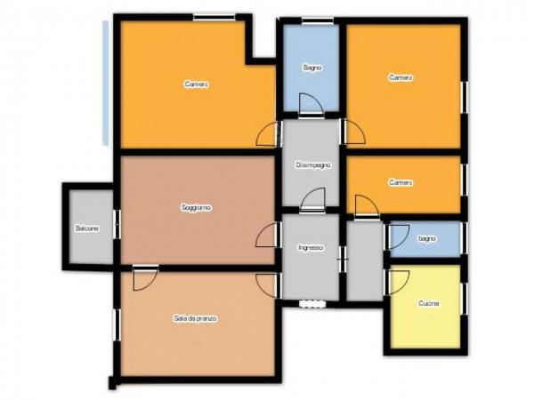 Appartamento in vendita a Brescia, Via Veneto, Con giardino, 165 mq - Foto 3