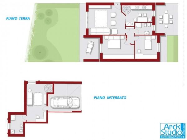 Appartamento in vendita a Casirate d'Adda, Centro, Con giardino, 118 mq
