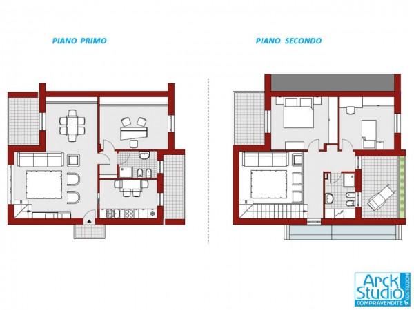 Appartamento in vendita a Casirate d'Adda, Centro, Con giardino, 144 mq - Foto 2