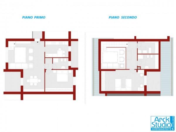 Appartamento in vendita a Casirate d'Adda, Centro, Con giardino, 138 mq