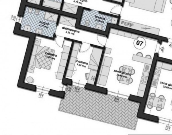 Appartamento in vendita a Fara Gera d'Adda, 83 mq - Foto 7