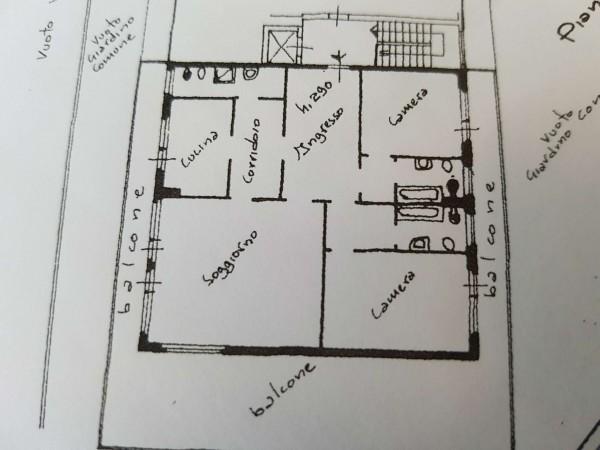 Appartamento in vendita a Varese, Masnago, Con giardino, 160 mq - Foto 35