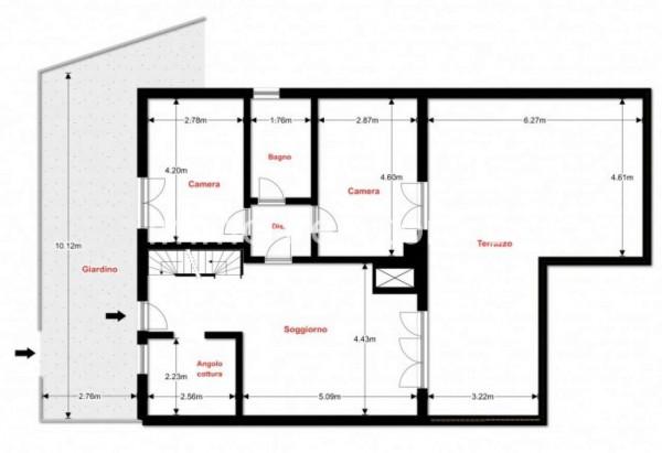 Villetta a schiera in vendita a Bregano, Residence Plan, Arredato, con giardino, 171 mq - Foto 6