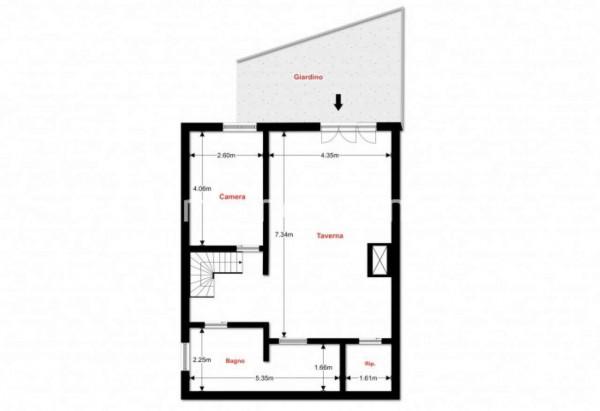 Villetta a schiera in vendita a Bregano, Residence Plan, Arredato, con giardino, 171 mq - Foto 5