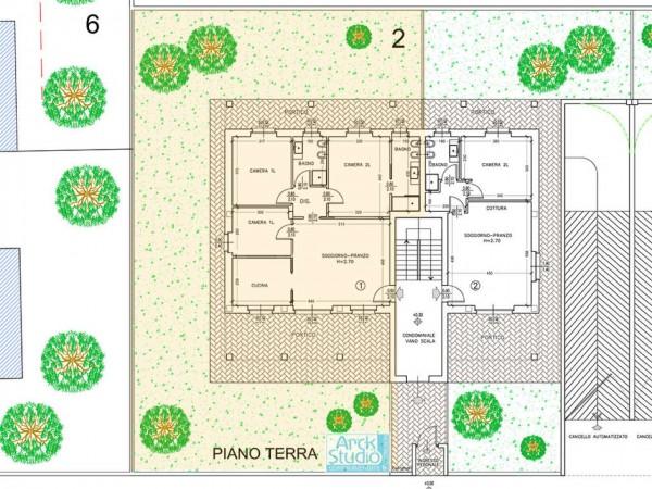 Appartamento in vendita a Cassano d'Adda, Con giardino, 145 mq - Foto 7