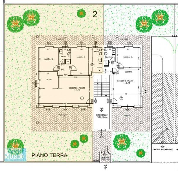 Appartamento in vendita a Cassano d'Adda, Con giardino, 145 mq - Foto 9