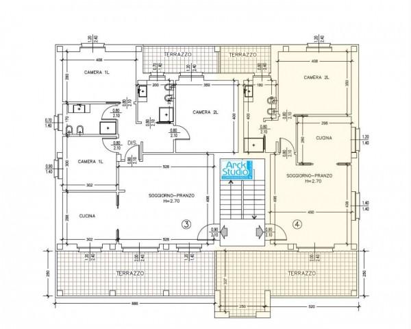 Appartamento in vendita a Cassano d'Adda, Con giardino, 85 mq - Foto 6