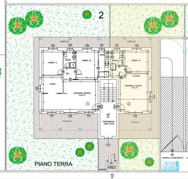 Appartamento in vendita a Cassano d'Adda, Con giardino, 85 mq - Foto 9