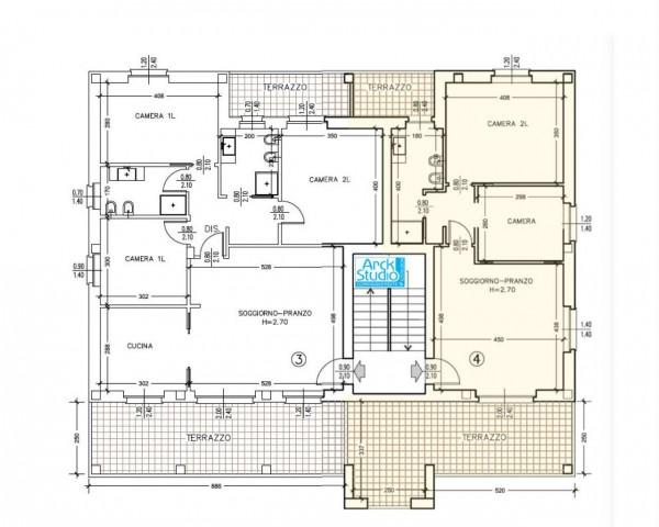 Appartamento in vendita a Cassano d'Adda, Con giardino, 85 mq - Foto 10