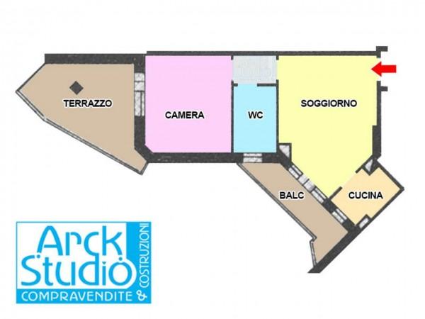 Appartamento in vendita a Cassano d'Adda, Atm, 50 mq - Foto 8