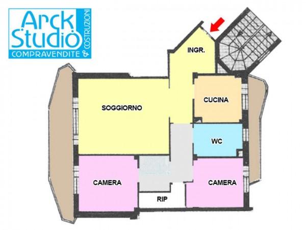 Appartamento in vendita a Cassano d'Adda, Atm, 125 mq - Foto 22