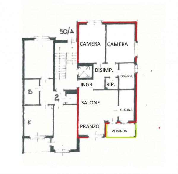 Appartamento in vendita a Alpignano, Semi-centrale, Con giardino, 90 mq - Foto 3