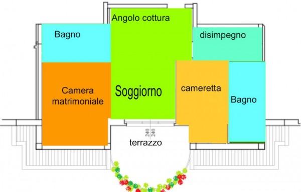 Appartamento in vendita a Gallarate, Centrale, 80 mq