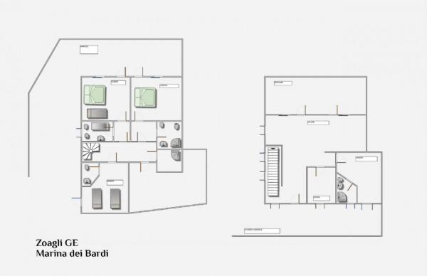 Villa in vendita a Zoagli, Marina Di Bardi, Con giardino, 267 mq - Foto 2