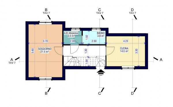 Casa indipendente in vendita a Rapallo, Ronco, Con giardino, 71 mq - Foto 19