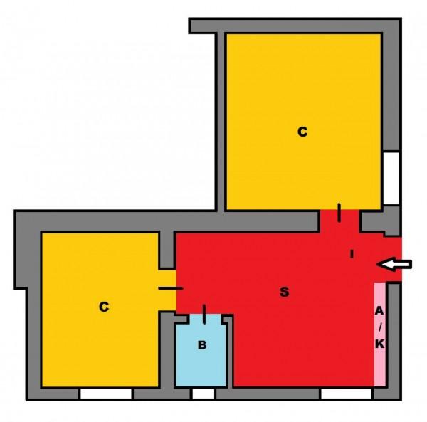 Appartamento in vendita a Roma, Quadraro, 50 mq - Foto 4