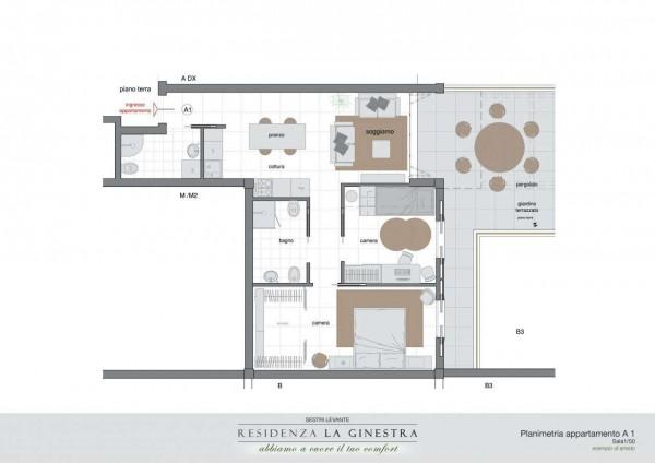 Appartamento in vendita a Sestri Levante, San Bartolomeo, Con giardino, 75 mq - Foto 14