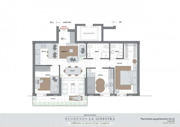 Appartamento in vendita a Sestri Levante, San Bartolomeo, Con giardino, 75 mq - Foto 18