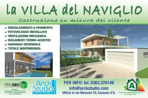 Villa in vendita a Inzago, Naviglio, Con giardino, 185 mq - Foto 19