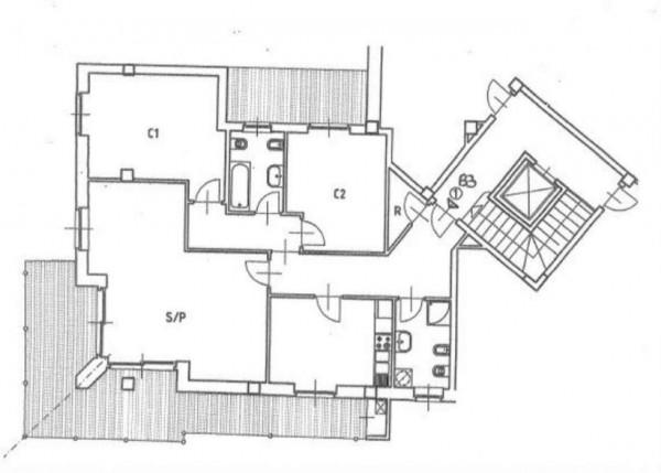 Appartamento in vendita a Pino Torinese, Pino Torinese, Con giardino, 137 mq - Foto 2