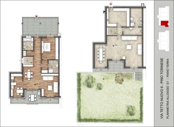 Appartamento in vendita a Pino Torinese, 190 mq - Foto 90