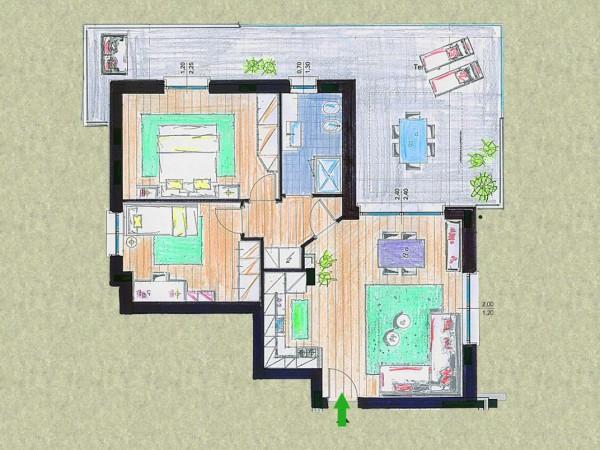Appartamento in vendita a Cassano d'Adda, Con giardino, 92 mq - Foto 21