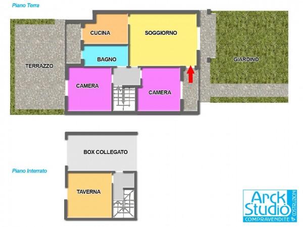 Appartamento in vendita a Cassano d'Adda, Cascine San Pietro, Con giardino, 127 mq - Foto 2