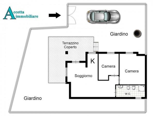Villa in vendita a Leporano, Mare - Residenziale, Arredato, con giardino, 65 mq - Foto 2