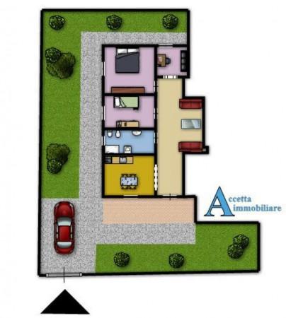 Villa in vendita a Leporano, Residenziale, Con giardino, 95 mq - Foto 2