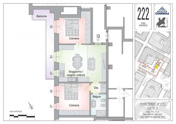 Appartamento in vendita a Torino, 77 mq - Foto 2