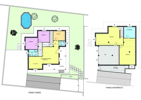 Villa in vendita a Cassano d'Adda, Stazione, Con giardino, 227 mq - Foto 21