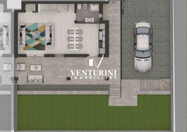 Villetta a schiera in vendita a Roma, Valle Muricana, Con giardino, 140 mq - Foto 8