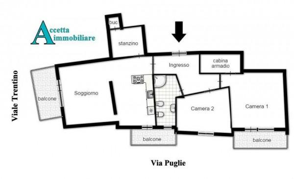 Appartamento in vendita a Taranto, Semicentrale, 95 mq - Foto 2