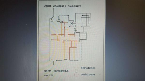 Appartamento in vendita a Varese, Centro Città, 130 mq - Foto 37